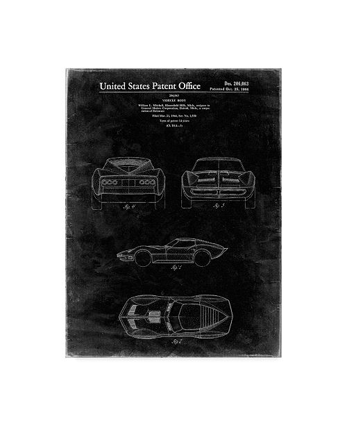 "Trademark Innovations Cole Borders 'Car 1' Canvas Art - 24"" x 18"" x 2"""