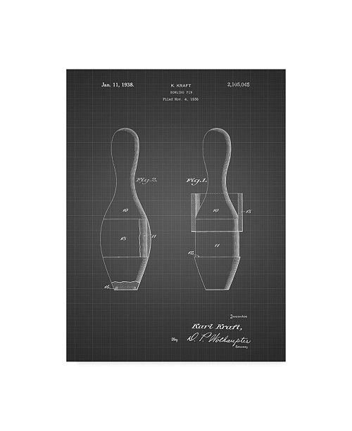 """Trademark Innovations Cole Borders 'Bowling Pin 3' Canvas Art - 24"""" x 18"""" x 2"""""""