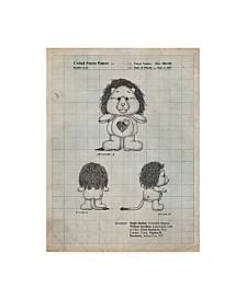 """Cole Borders 'Brave Heart Lion Care Bear Patent Art Print' Canvas Art - 19"""" x 14"""" x 2"""""""