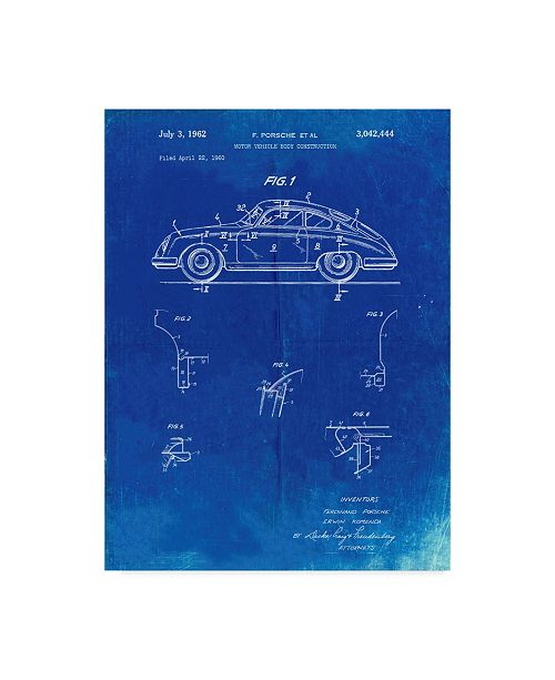 "Trademark Global Cole Borders 'Porsche 365' Canvas Art - 47"" x 35"" x 2"""