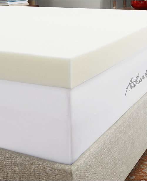 "Authentic Comfort CLOSEOUT! 4"" Breathable Memory Foam Full Mattress Topper"