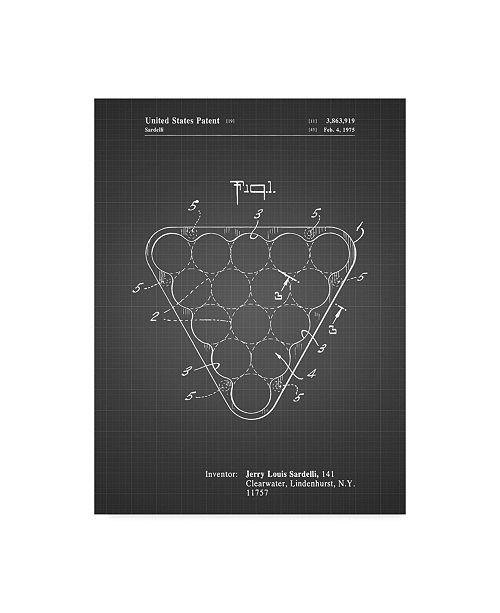 "Trademark Innovations Cole Borders 'Billiard Ball Rack' Canvas Art - 24"" x 18"" x 2"""