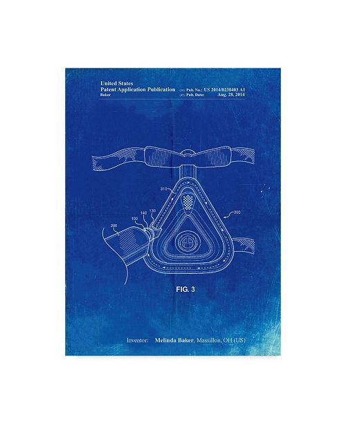 """Trademark Innovations Cole Borders 'Cpap Mask' Canvas Art - 19"""" x 14"""" x 2"""""""