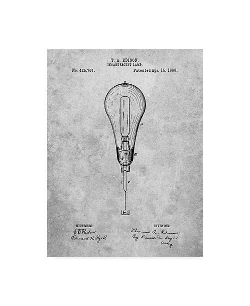 """Trademark Global Cole Borders 'Outboard Motor Patent Art' Canvas Art - 47"""" x 35"""" x 2"""""""