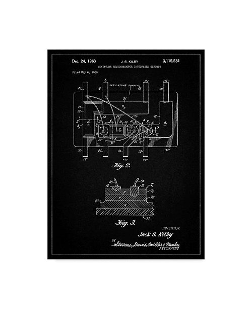 "Trademark Innovations Cole Borders 'First Integrated Circuit' Canvas Art - 47"" x 35"" x 2"""