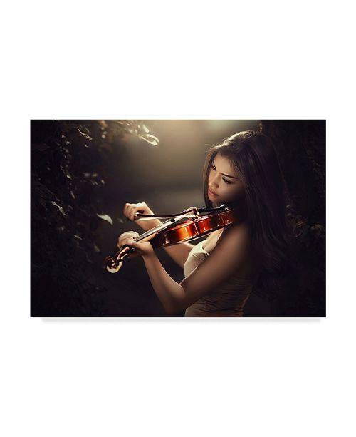 "Trademark Global Ivan Lee 'Love Song Violin' Canvas Art - 24"" x 2"" x 16"""