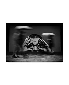 "Francesco Martinelli 'Watch Out Its Slippery' Canvas Art - 32"" x 2"" x 22"""