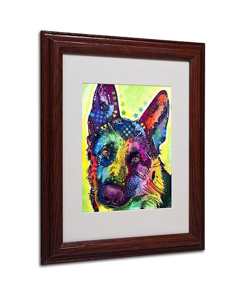 """Trademark Global Dean Russo 'German Shepherd' Matted Framed Art - 11"""" x 14"""" x 0.5"""""""