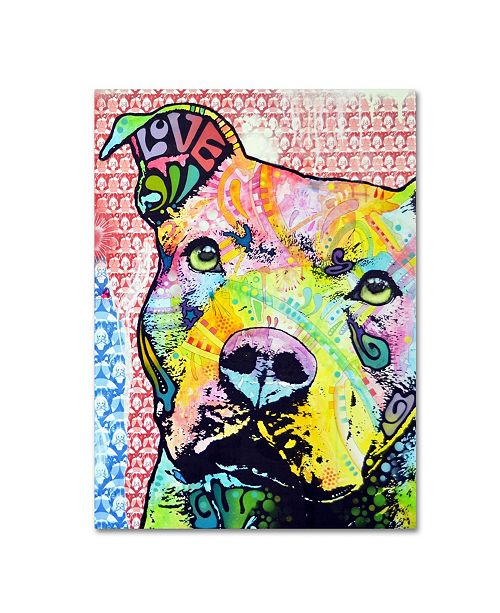 "Trademark Global Dean Russo 'Thoughtful Pitbull II' Canvas Art - 26"" x 32"" x 2"""