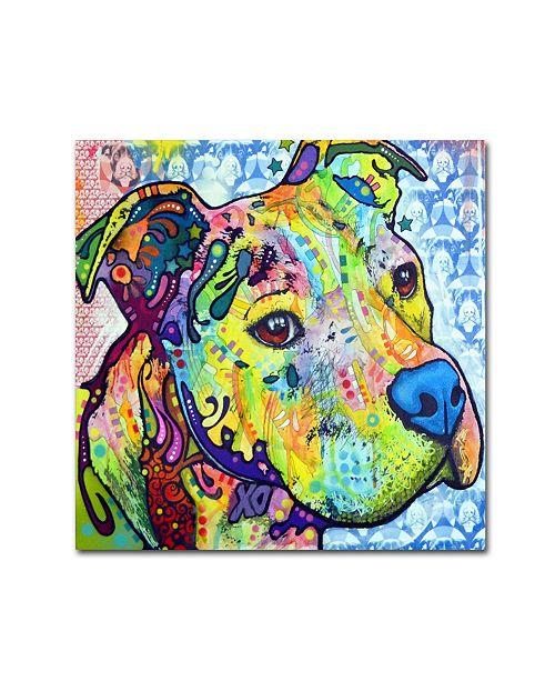 "Trademark Global Dean Russo 'Thoughtful Pitbull III' Canvas Art - 35"" x 35"" x 2"""