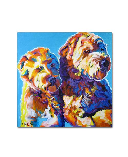 "Trademark Global DawgArt 'Max and Maggie' Canvas Art - 35"" x 35"" x 2"""