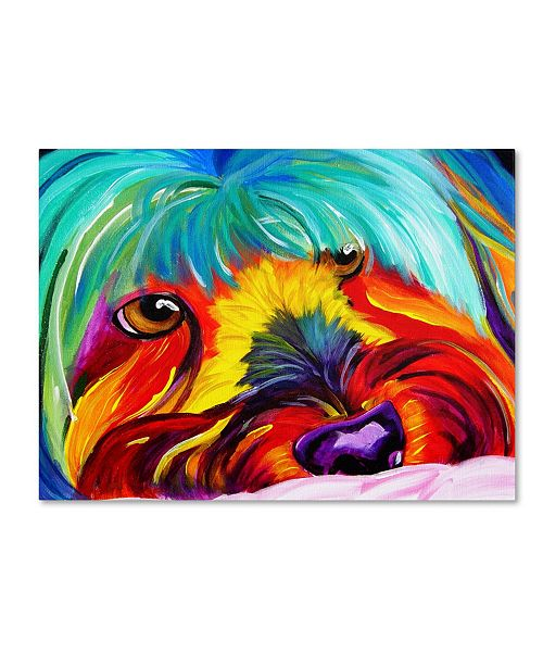 """Trademark Global DawgArt 'Dreaming Of Biscuits' Canvas Art - 35"""" x 47"""" x 2"""""""