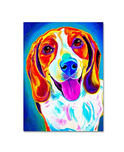 "Trademark Global DawgArt 'Lucy' Canvas Art - 35"" x 47"" x 2"""