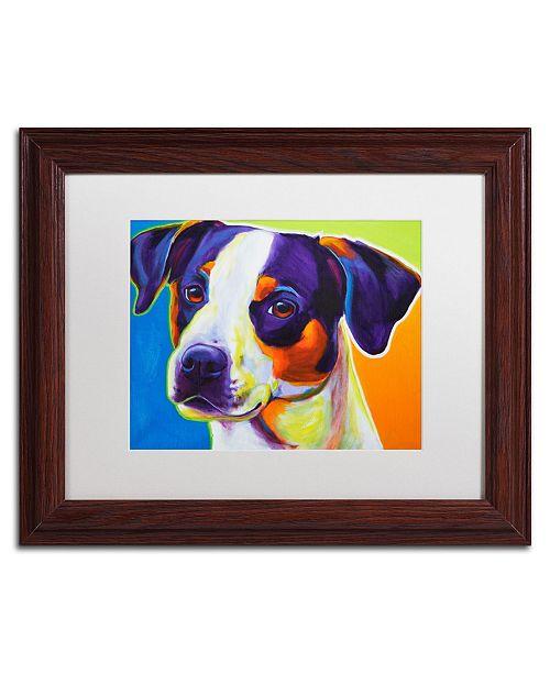 "Trademark Global DawgArt 'Lady Baillee' Matted Framed Art - 11"" x 14"" x 0.5"""