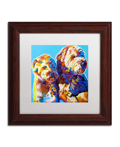"""Trademark Global DawgArt 'Max and Maggie' Matted Framed Art - 11"""" x 11"""" x 0.5"""""""