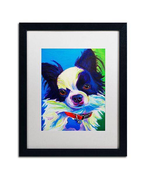 "Trademark Global DawgArt 'Esso Gomez' Matted Framed Art - 20"" x 16"" x 0.5"""