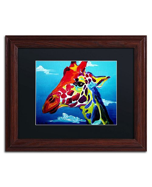 "Trademark Global DawgArt 'Giraffe' Matted Framed Art - 11"" x 14"" x 0.5"""