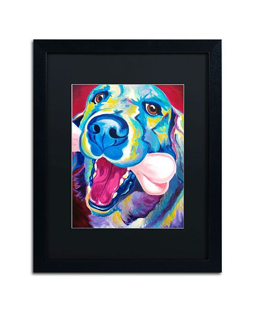 "Trademark Global DawgArt 'My Favorite Bone Reboot' Matted Framed Art - 20"" x 16"" x 0.5"""