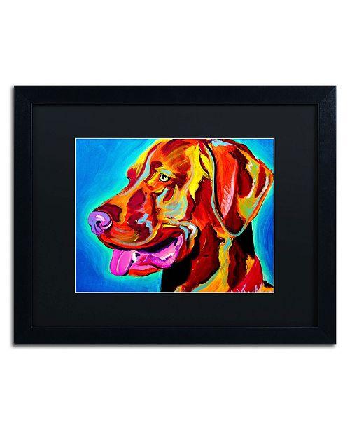 "Trademark Global DawgArt 'Viszla' Matted Framed Art - 20"" x 16"" x 0.5"""