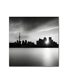 """Dave MacVicar 'Silver City' Canvas Art - 14"""" x 14"""" x 2"""""""