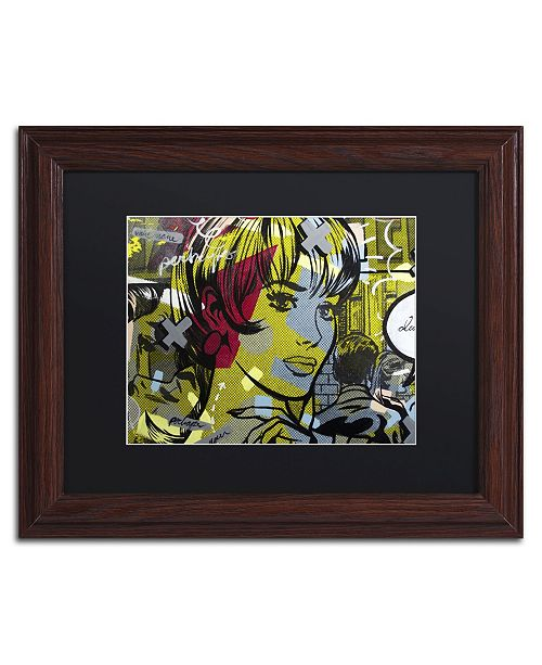 "Trademark Global Dan Monteavaro 'Man Hunter' Matted Framed Art - 14"" x 11"" x 0.5"""