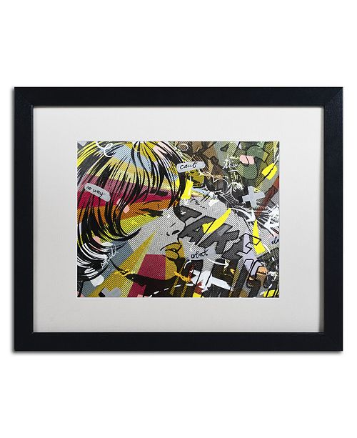 "Trademark Global Dan Monteavaro 'Take Away' Matted Framed Art - 16"" x 20"" x 0.5"""
