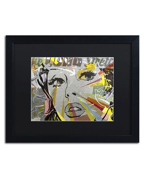 "Trademark Global Dan Monteavaro 'The Long Stretch' Matted Framed Art - 16"" x 20"" x 0.5"""