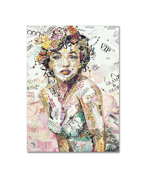 "Trademark Global Ines Kouidis 'Glam & Glory' Canvas Art - 19"" x 14"" x 2"""