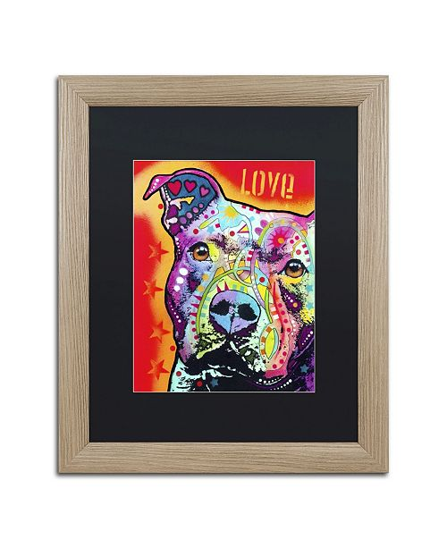 """Trademark Global Dean Russo 'Thoughtful Pitbull' Matted Framed Art - 20"""" x 16"""" x 0.5"""""""