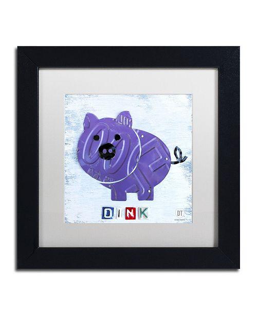 "Trademark Global Design Turnpike 'Oink the Pig' Matted Framed Art - 11"" x 11"" x 0.5"""