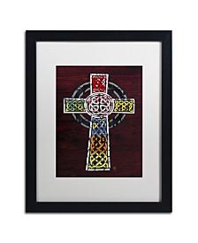 """Design Turnpike 'Celtic Cross' Matted Framed Art - 16"""" x 20"""" x 0.5"""""""