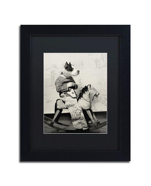 "Trademark Global J Hovenstine Studios 'Dog Series #4' Matted Framed Art - 11"" x 14"" x 0.5"""