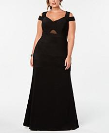 Trendy Plus Size Cold-Shoulder A-Line Dress