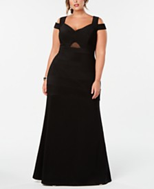 Emerald Sundae Trendy Plus Size Cold-Shoulder A-Line Dress