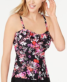 Island Escape Ditzy Daze Floral Tankini Top, Created for Macy's