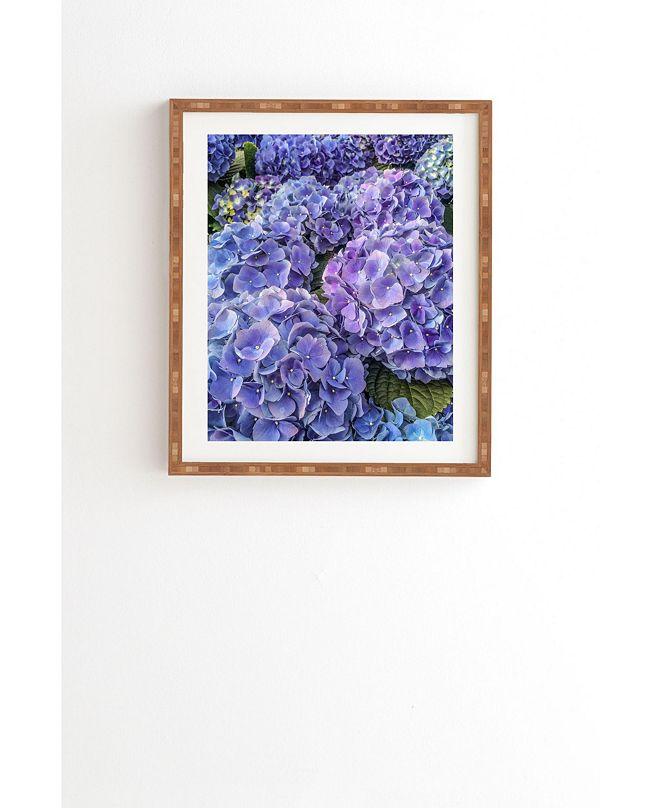 Deny Designs Blue and Purple Petals Framed Wall Art