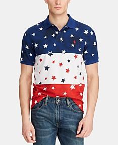 5f263f13 Polo Ralph Lauren Men's Big & Tall Classic-Fit Star Mesh Americana Polo  Shirt