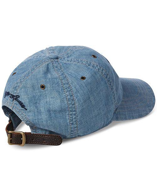 4f858e9e62c Polo Ralph Lauren Men s Flag Chambray Baseball Cap   Reviews - Hats ...