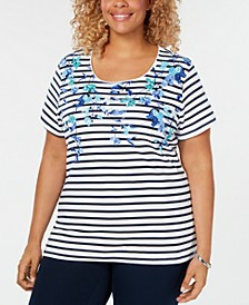 Plus Size Layla Legend Printed Top, Created for Macy's