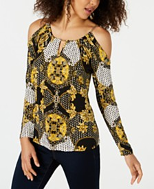 Thalia Sodi Cold-Shoulder Keyhole Top, Created for Macy's