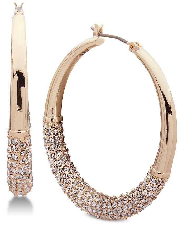 DKNY - Ombré Pavé Hoop Earrings