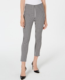 Elie Tahari Jessalyn Checkered Ankle Pants