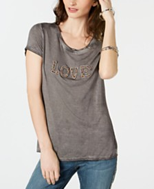 I.N.C. Embellished Love T-Shirt, Created for Macy's