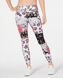 Calvin Klein Performance Freesia Printed High-Rise Leggings