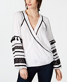 INC Embroidered Wrap Top, Created for Macy's
