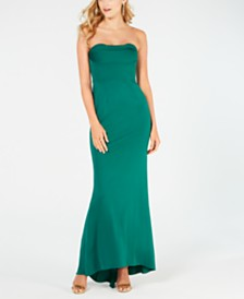 Adrianna Papell Petite Lola Strapless Gown