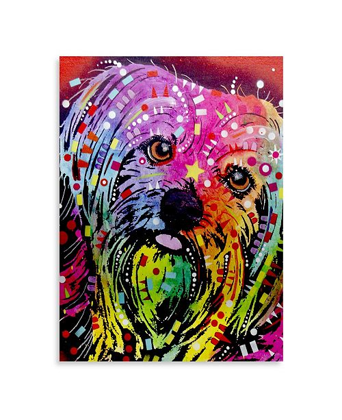 """Trademark Global Dean Russo 'Yorkie' Floating Brushed Aluminum Art - 16"""" x 22"""" x 1"""""""