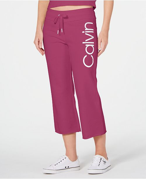 Calvin Klein Logo Cropped Sweatpants