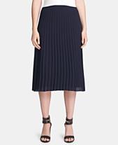 ead62858e DKNY Petite Pleated Midi Skirt