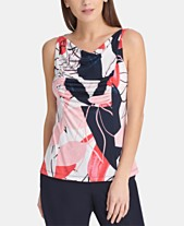 2403d614972 DKNY Printed Cowl-Neck Top
